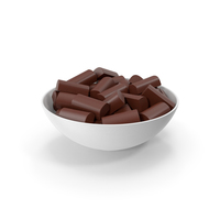 Ceramic Bowl With Chocolate PNG & PSD Images