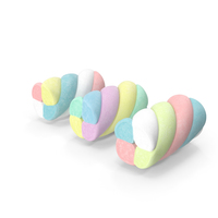 Multi Colored Marshmallow Twists PNG & PSD Images