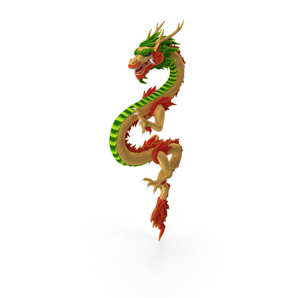 Multicolored Chinese Dragon PNG & PSD Images