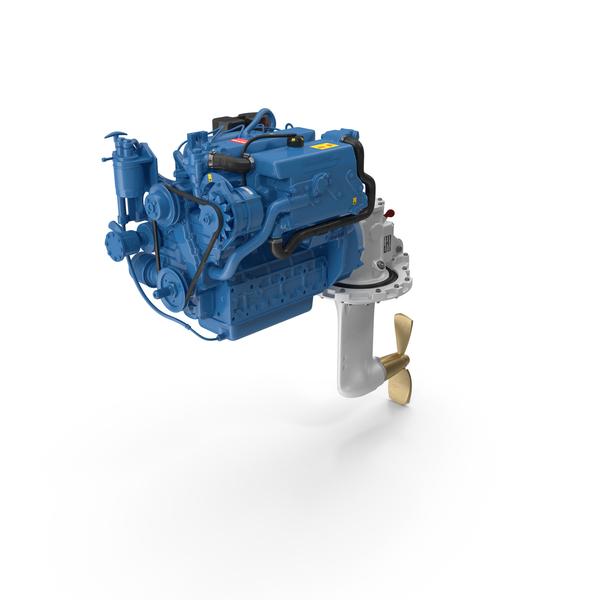 Nanni Marine Diesel Engine PNG & PSD Images