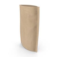Zipper Kraft Paper Bag 180 g Open PNG & PSD Images