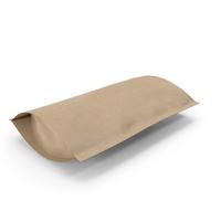 Zipper Kraft Paper Bag 220 g Open PNG & PSD Images