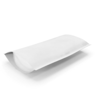 Zipper White Paper Bag 300g Open PNG & PSD Images