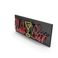 Neon Sign Club Bar PNG & PSD Images