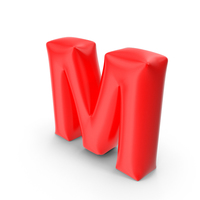Balloon Letter M PNG & PSD Images