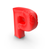 Balloon Letter P PNG & PSD Images