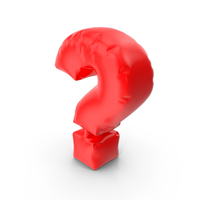 Balloon Letter Question PNG & PSD Images