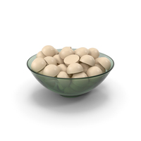 Glass Bowl With Milky Chocolate PNG & PSD Images
