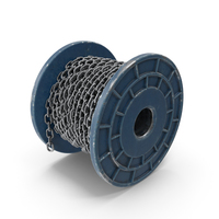 Blue Painted Metal Bobbin Steel Chain PNG & PSD Images