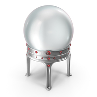 Crystal Ball in a Holder with Ruby Gems PNG & PSD Images