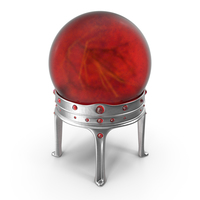 Sorcerer Ball in a Silver Holder with Ruby Gems PNG & PSD Images