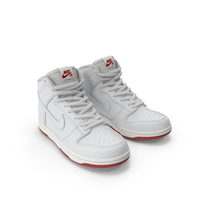 Nike SB Dunk High Pro White PNG & PSD Images