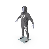 Nike Sportswear Suit Anthrazit Raised Hood on Mannequin PNG & PSD Images