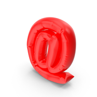 Balloon Letter @ (At) PNG & PSD Images