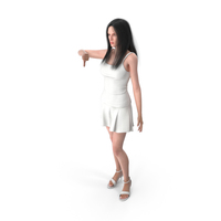 Woman Shows Negative Gesture PNG & PSD Images