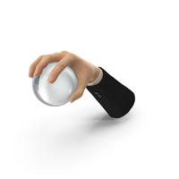 Suit Hand Grabbing a Crystal Ball PNG & PSD Images
