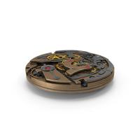 Watch Mechanism Bronze Armor PNG & PSD Images