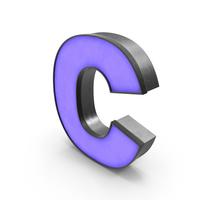 Luminous Letter C Blue PNG & PSD Images