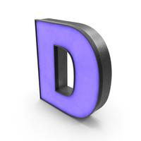 Luminous Letter D Blue PNG & PSD Images