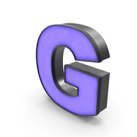 Luminous Letter G Blue PNG & PSD Images