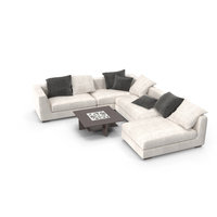 Modern Sofa and Coffee Table PNG & PSD Images
