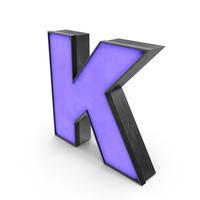 Luminous Letter K Blue PNG & PSD Images