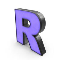Luminous Letter R Blue PNG & PSD Images