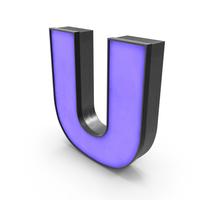 Luminous Letter U Blue PNG & PSD Images