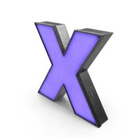 Luminous Letter X Blue PNG & PSD Images