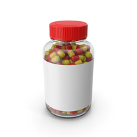 Glass Tablet Bottle PNG & PSD Images