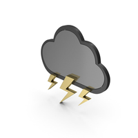 Weather Icon Thunderstorm PNG & PSD Images