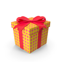 Gift Box Cube Yellow PNG & PSD Images