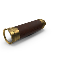 Old Brass Telescope Spyglass Folded PNG & PSD Images