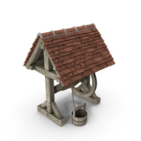 Old Water Well with Pulley and Bucket PNG & PSD Images