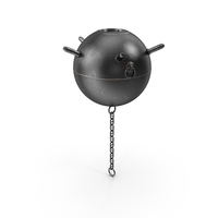 Old WWII Sea Mine with Chain PNG & PSD Images