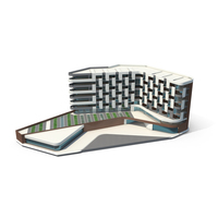 Futuristic Office Building PNG & PSD Images