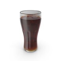 Glass Cola With Ice PNG & PSD Images