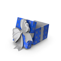 Gift Box Cube Blue Open PNG & PSD Images