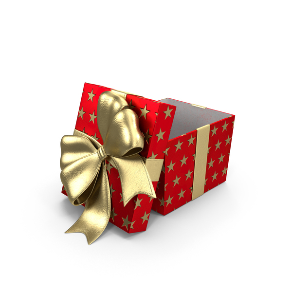 Gift Box Cube Red Open PNG & PSD Images