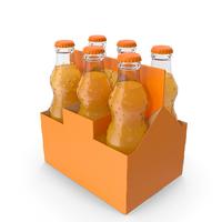 Orange Soda Glass Bottle Package PNG & PSD Images