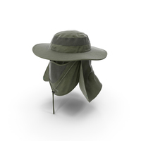 Outdoor Fishing Hat with Removable Neck Flap and Face Cover Mask PNG & PSD Images