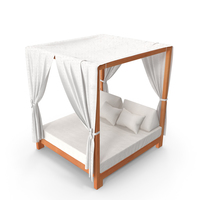 Outdoor Leisure Daybed with Canopy PNG & PSD Images