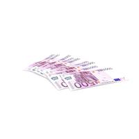 Paper Banknotes Euro 500 Bundle PNG & PSD Images