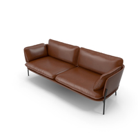 Sofa V44 Brown PNG & PSD Images