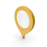 Location Sign Yellow PNG & PSD Images