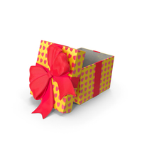 Gift Box Cube Yellow Open PNG & PSD Images