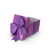 Gift Box Cube Purple open PNG & PSD Images