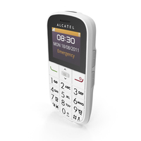 Alcatel Onetouch 282 White PNG & PSD Images