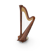 Pedal Harp Instrument PNG & PSD Images