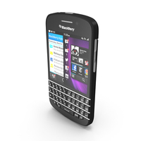 Blackberry Q10 Smartphone Black PNG & PSD Images